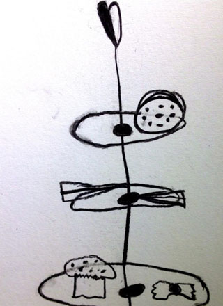 cake stand drawing 2