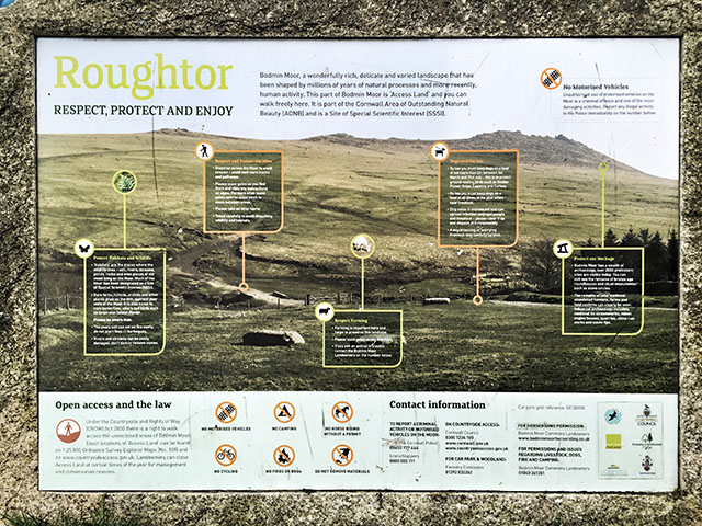 Rough Tor information sign