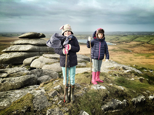 girls on Rough Tor