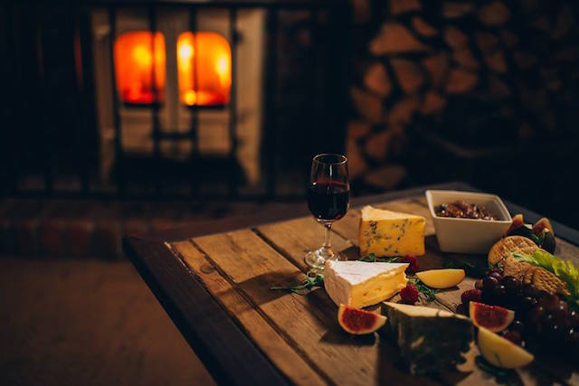 Cheese wine fire