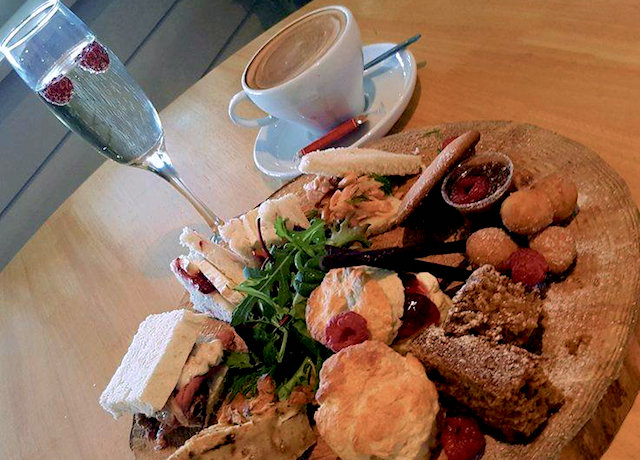 Lusty Glaze winter afternoon tea