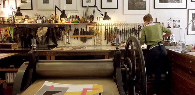 John Howard printmaking studio