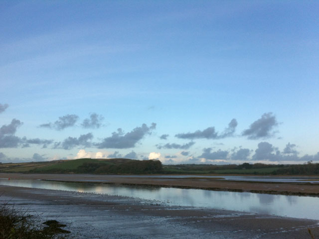 The Camel Trail from Wadebridge to Padstow looks over the Camel Estuary.